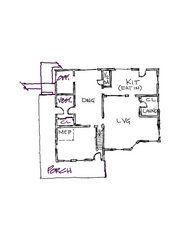 Existing first floor plan catskill country house green rehab
