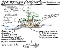 Barge Levee - Eco Barge - Incubator Barge Schematic